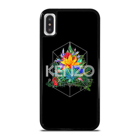 KENZO PARIS FLORAL-iphone-x-case-cover