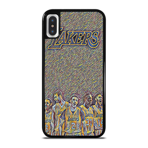 LA LAKERS ART-iphone-x-case-cover