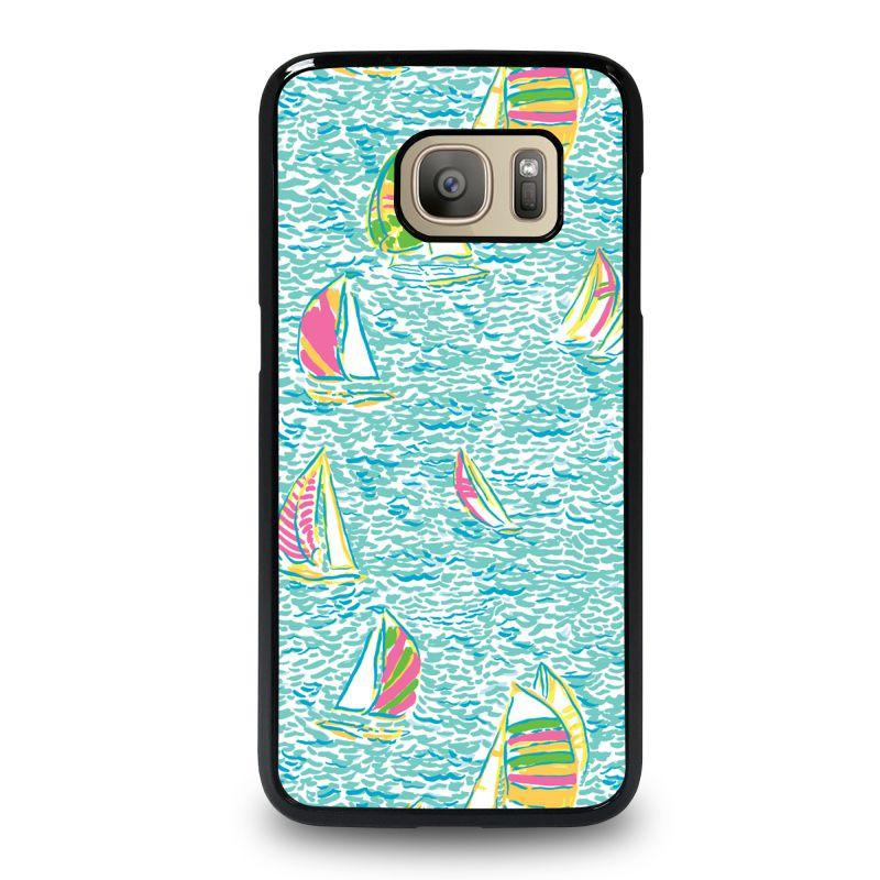 new arrival 0fc09 25ed1 LILLY PULITZER SAILBOAT Samsung Galaxy S7 Case Cover - Favocase