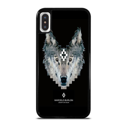 MARCELO BURLON WOLF LOGO-iphone-x-case-cover