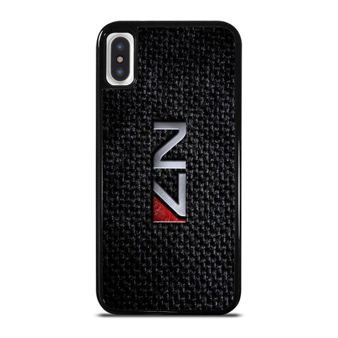 MASS EFFECT N7 METAL LOGO-iphone-x-case-cover