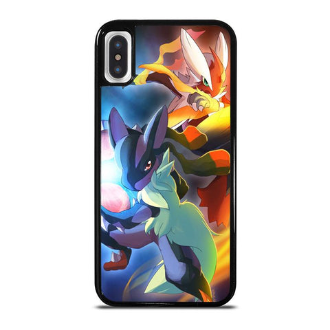 MEGA POKEMON BLAZIKEN VS LUCARIO-iphone-x-case-cover