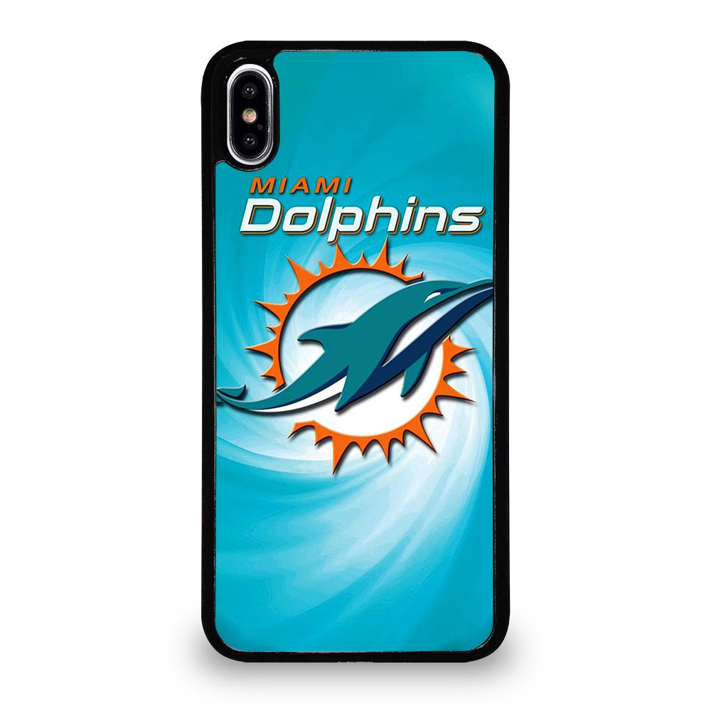 brand new 06ed8 e4c2d MIAMI DOLPHINS NFL iPhone XS Max Case Cover - Favocase