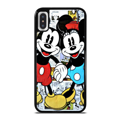 MICKEY AND MINNIE MOUSE DISNEY COMIC-iphone-x-case-cover