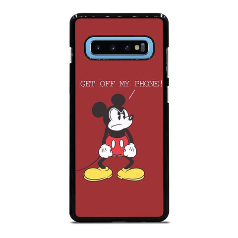MICKEY MOUSE GET OFF MY PHONE Samsung Galaxy S4 S5 S6 S7 S8 S9 S10 S10e Edge Plus Note 4 5 8 9 Case Cover