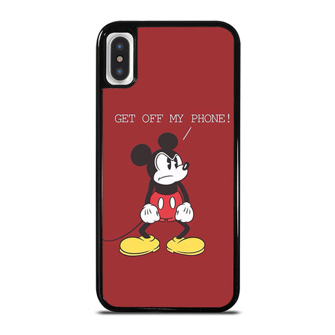 MICKEY MOUSE GET OFF MY PHONE iPhone X / XS Case - Best Custom Phone Cover Cool Personalized Design