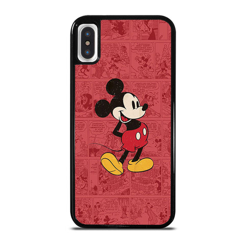MICKEY MOUSE RETRO COMIC iPhone X / XS Case - Best Custom Phone Cover Cool Personalized Design