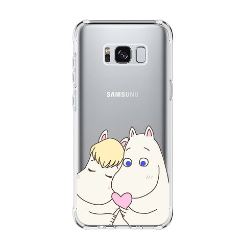 MOOMIN LOVE Samsung Galaxy S5 S6 Edge S7 S8 S9 S10 Plus S10e Transparent Clear Case Cover