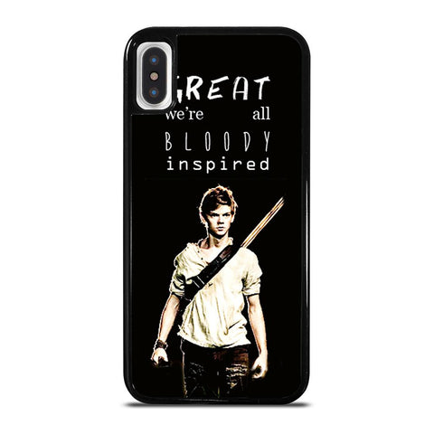 NEWT QUOTE MAZE RUNNER-iphone-x-case-cover