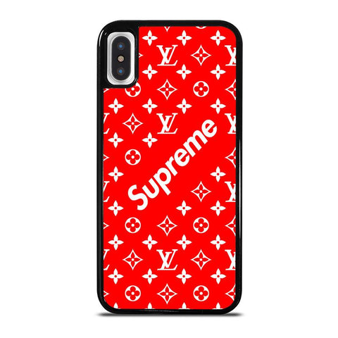 NEW SUPREME RED PATTERN-iphone-x-case-cover