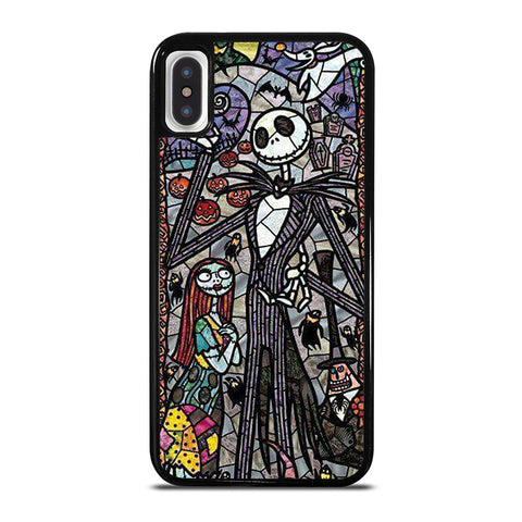 NIGHTMARE BEFORE CHRISTMAS ART GLASS iPhone X / XS Case - Best Custom Phone Cover Cool Personalized Design