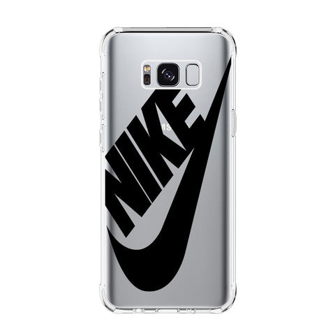 NIKE LOGO Samsung Galaxy S5 S6 Edge S7 S8 S9 S10 Plus S10e Transparent Clear Case Cover