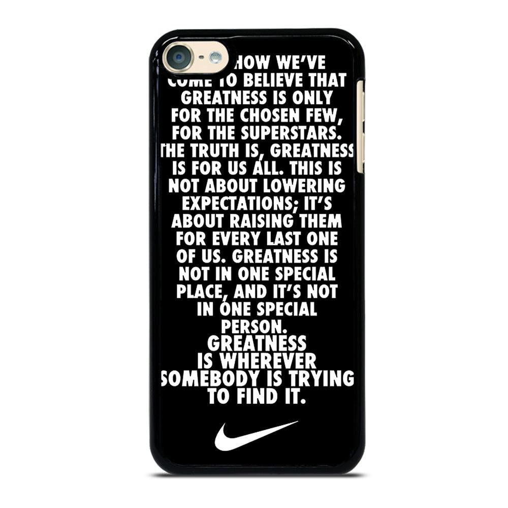 premium selection 3eb03 3a7a3 NIKE QUOTE iPod Touch 6 Case Cover - Favocase