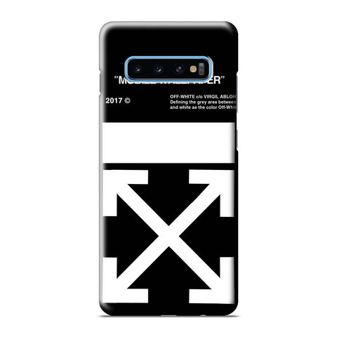 OFF WHITE  Samsung Galaxy S6 S7 S8 S9 S10 S10e Edge Plus Note 8 9 10 10+ 3D Case Cover