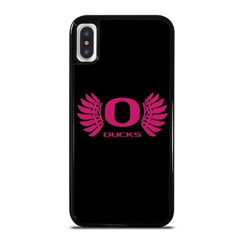 OREGON DUCKS PINK GIRL-iphone-x-case-cover