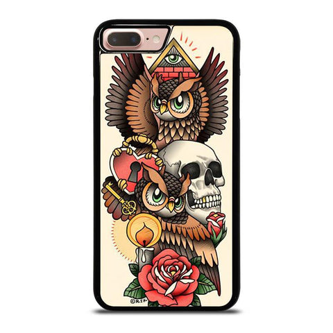 OWL-STEAMPUNK-ILLUMINATI-TATTOO-iphone-8-plus-case-cover