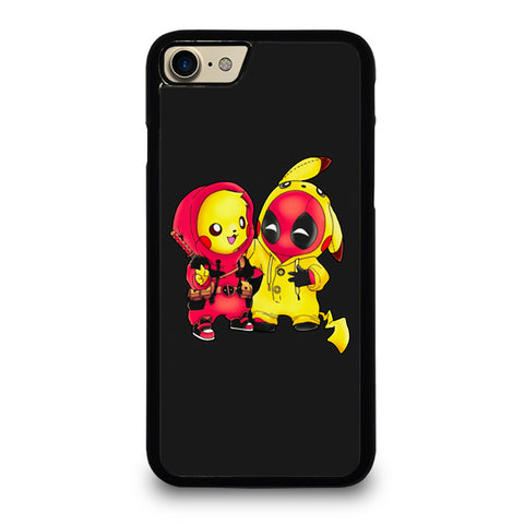 PIKACHU POKEMON AND DEADPOOL-iphone-7-case-cover