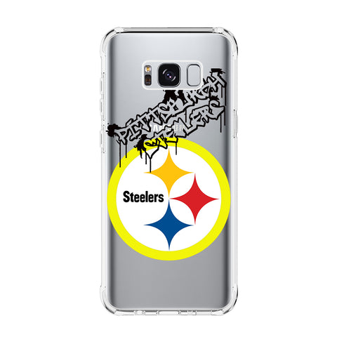 PITTSBURGH STEELERS 1 Samsung Galaxy S5 S6 Edge S7 S8 S9 S10 Plus S10e Transparent Clear Case Cover