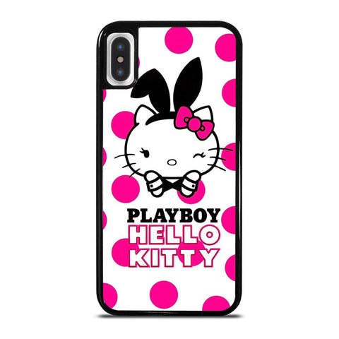 PLAYBOY HELLO KITTY-iphone-x-case-cover