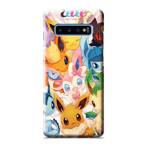 POKEMON EEVEELUTIONS Samsung Galaxy S6 S7 S8 S9 S10 S10e Edge Plus Note 8 9 10 10+ 3D Case Cover
