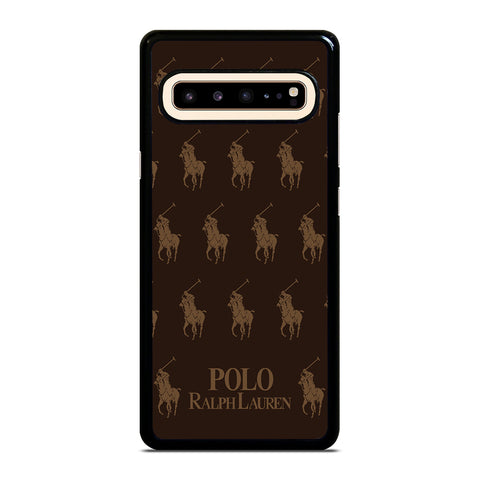 POLO RALPH LAUREN COLLAGE BROWN-samsung-galaxy-s10-5g-case-cover