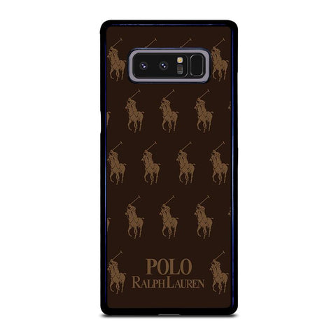 POLO RALPH LAUREN COLLAGE BROWN-samsung-galaxy-note-8-case-cover