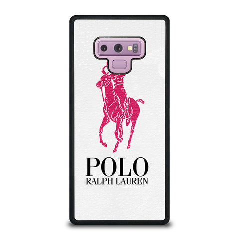 POLO RALPH LAUREN PINK LOGO-samsung-galaxy-note-9-case-cover