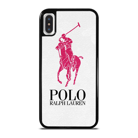 POLO RALPH LAUREN PINK LOGO-iphone-x-case-cover