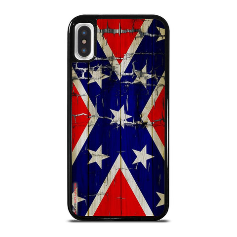 REBEL FLAG WOODEN 2-iphone-x-case-cover