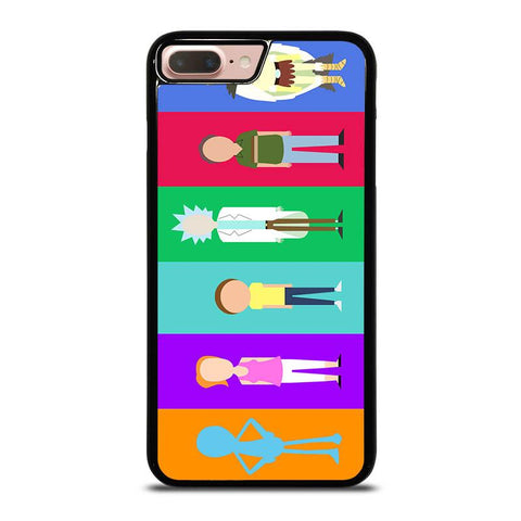 RICK-AND-MORTY-CHARACTER-iphone-8-plus-case-cover