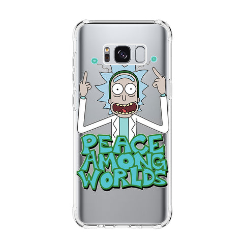 RICK AND MORTY MONSTER 1 Samsung Galaxy S5 S6 Edge S7 S8 S9 S10 Plus S10e Transparent Clear Case Cover