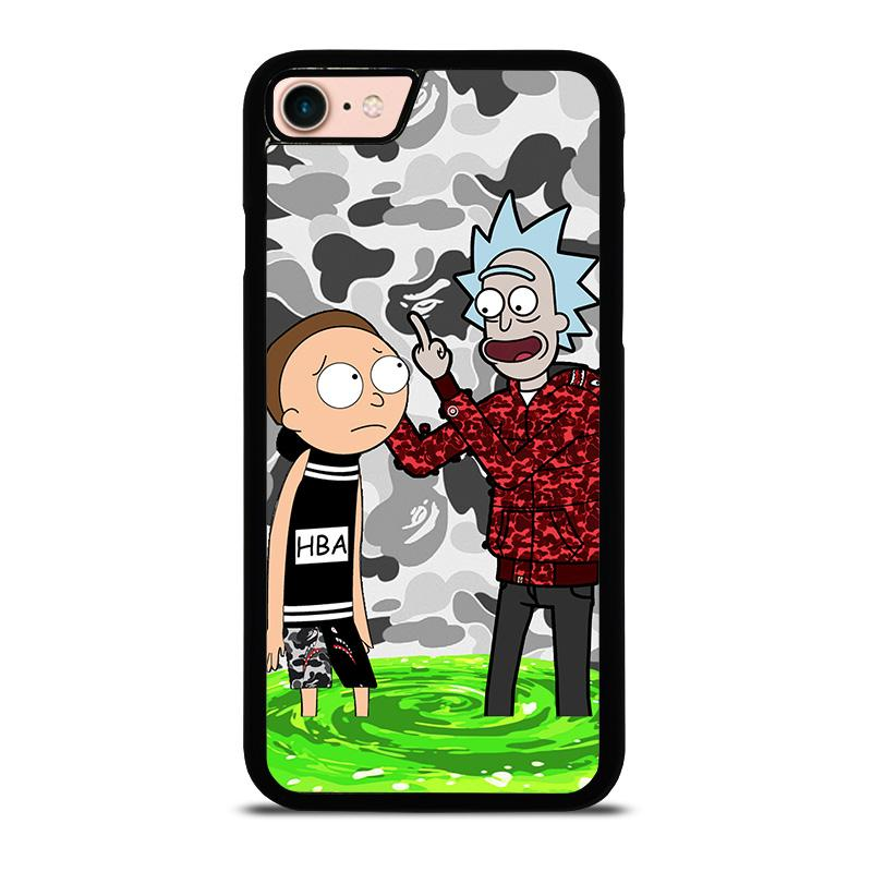 separation shoes 52fcd 85cf4 RICK AND MORTY RICK BAPE iPhone 8 Case Cover - Favocase