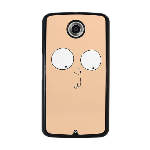 RICK-AND-MORTY-STUPID-FACE-nexus-6-case-cover