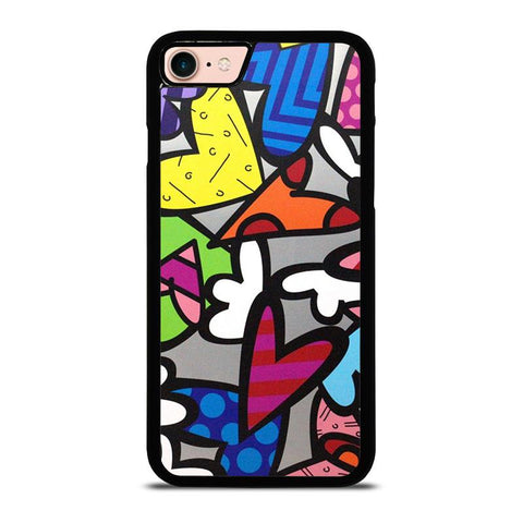 ROMERO BRITTO ABSTRACT LOVE-iphone-8-case-cover