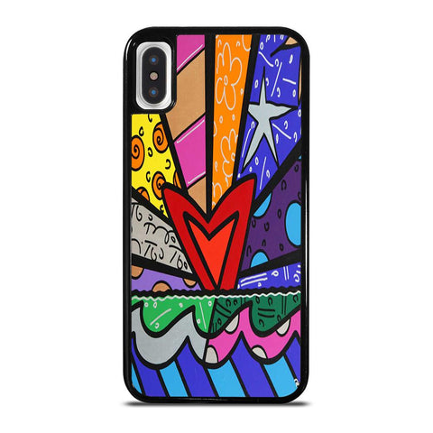 ROMERO BRITTO LOVE NEW-iphone-x-case-cover