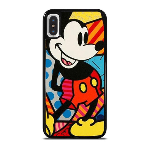 ROMERO BRITTO MICKEY MOUSE,-iphone-x-case-cover