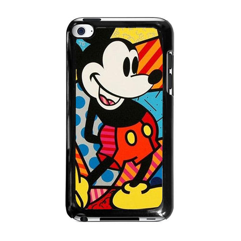 ROMERO BRITTO MICKEY MOUSEipod-touch-4-case-cover
