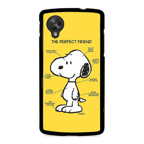 SNOOPY-DOG-PERFECT-FRIEND-nexus-5-case-cover