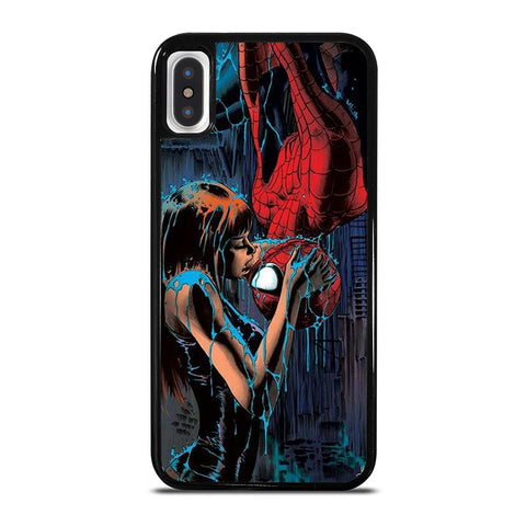 SPIDERMAN MARY JANE KISSING iPhone X / XS Case - Best Custom Phone Cover Cool Personalized Design