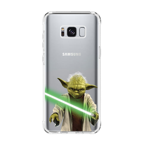 STAR WARS MASTER YODA Samsung Galaxy S5 S6 Edge S7 S8 S9 S10 Plus S10e Transparent Clear Case Cover