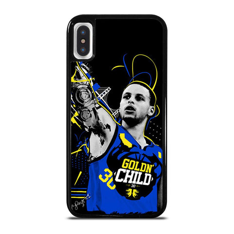 STEPHEN CURRY GOLDN CHILD-iphone-x-case-cover
