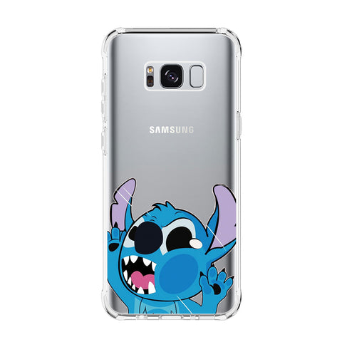STITCH GLASS Samsung Galaxy S5 S6 Edge S7 S8 S9 S10 Plus S10e Transparent Clear Case Cover
