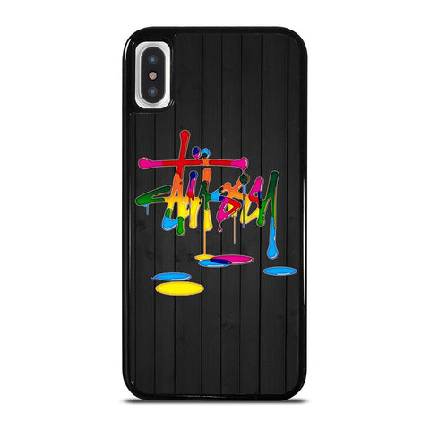 STUSSY PAINT LOGO-iphone-x-case-cover