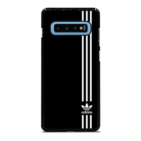 SUPERB ADIDAS LOGO BLACK Samsung Galaxy S4 S5 S6 S7 S8 S9 S10 S10e Edge Plus Note 4 5 8 9 Case Cover