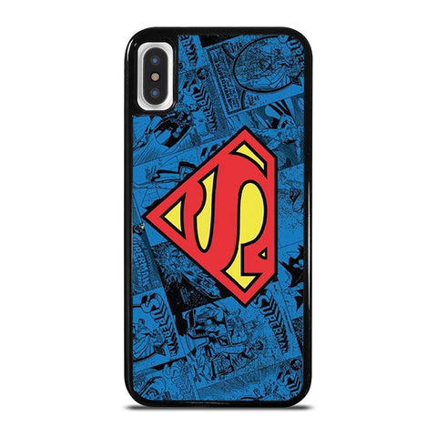 SUPERMAN DC COMIC LOGO-iphone-x-case-cover