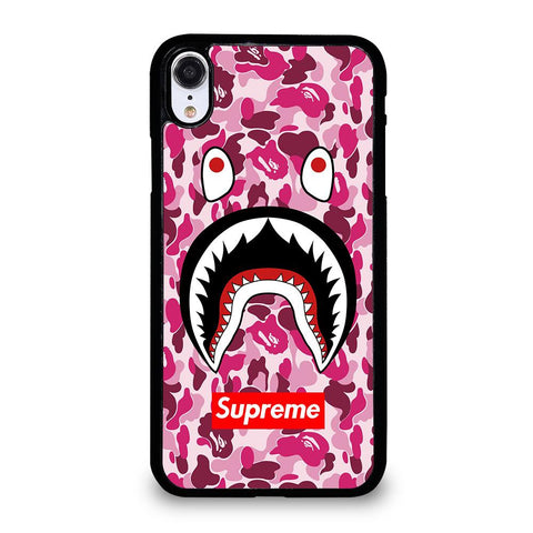 SUPREME BAPE CAMO SHARK-iphone-xr-case-cover