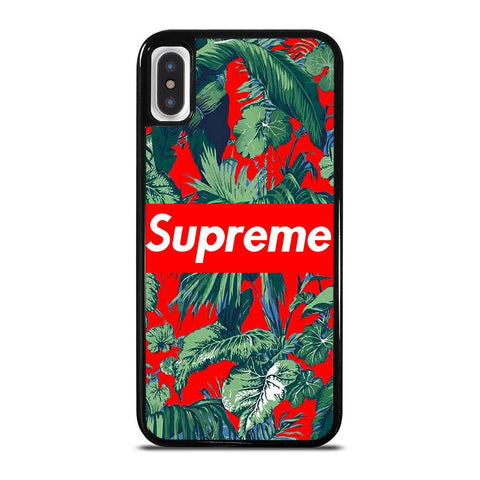 SUPREME FLORAL-iphone-x-case-cover