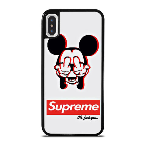 SUPREME MICKEY MOUSE-iphone-x-case-cover