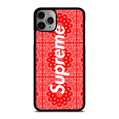 SUPREME RED BANDANA iPhone 6/6S 7 8 Plus X/XS XR 11 Pro Max Case - Cool Custom Phone Cover