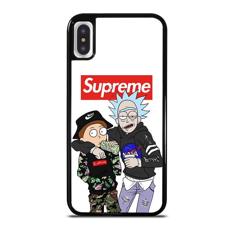 promo code 443de 85be8 SUPREME RICK AND MORTY iPhone X / XS Case Cover - Favocase